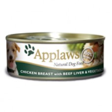 Applaws Dog Chicken and Beef 156g tin