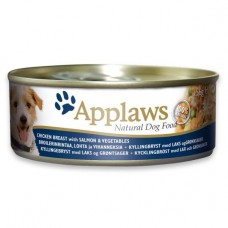 Applaws Dog Chicken and Salmon 156g Tin